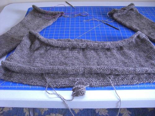 Cobblestone Sweater Progress