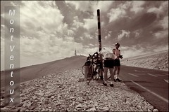 Take a break..Take a.... (Alex Verweij) Tags: france canon break climbing frankrijk fiets klimmen cs4 takeabreak montventoux editting tussenstop 40d splittones alexverweij