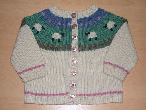 Sheep Yoke baby cardigan FO