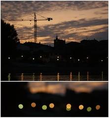 Obras y luces @ Miranda de Ebro (Mara Mer) Tags: de luces sony miranda build ebro obra a350