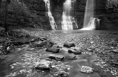 Re-visiting Triple Falls (clay.wells) Tags: blue light camp bw 6 brown motion green water rock shop creek canon river photography eos waterfall spring interesting buffalo long exposure place natural you 1st clayton wells mount explore stop filter national nd april arkansas wilderness cp polarizer six 2009 orr ef ye 1740 sherman circular olde density shoppe neutral ponca bigmomma f4l 40d challengeyouwinner thechallengefactory img6037bw iproposedtokrishellehere