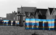 Late Summer Breaker (Grooover) Tags: uk beach suffolk seafront beachhuts felixstowe windbreak grooover