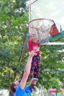 Drew playing basketball 9-09