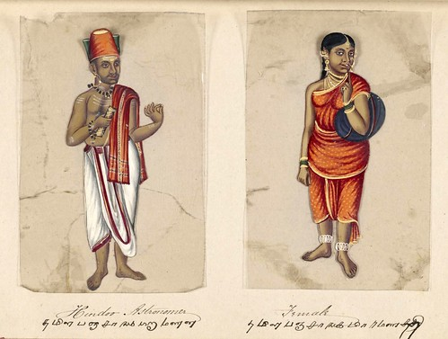 008- Astronomo hindú y su mujer-Seventy two specimens of castes in India 1837