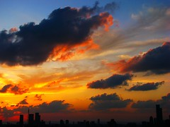 Fire in the sky (Gaby.Bernstein) Tags: sunset cloud night clouds cityscape gaby cloudy dusk bernstein bernsteingaby gabybernstein tlvskyline