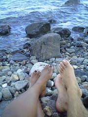 Panarea beach feet (Adrienne's Vacations) Tags: panarea