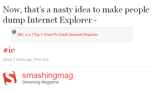 Smashing Magazine Tweet