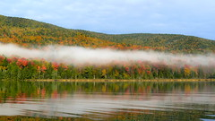 Autumn Cloud Bank (Upstate Dave) Tags: autumn colors clouds adirondacks hourpond siamesepondswilderness
