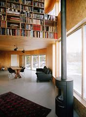 Triangle House design living room