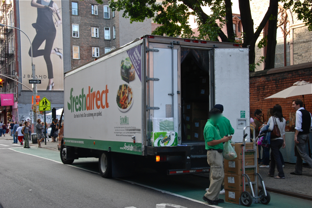 Fresh Direct(Ly) Blocking Bike Lanes
