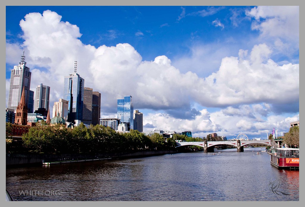 Melbourne CBD from over the Yarra river