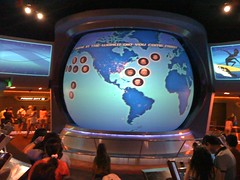 Recent riders - and their hometowns - on Spaceship Earth