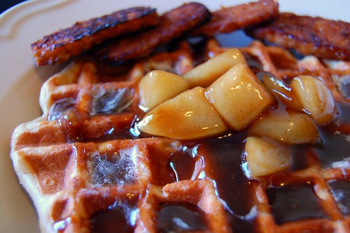 Waffles with Pears