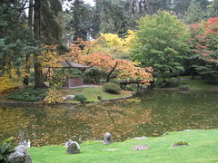 (Arefeh N) Tags: autumn red orange lake canada color reflection green fall nature vancouver garden colorful britishcolumbia ubc   memorialgarden           worldofcolors