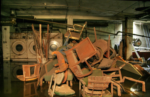 Basement Pile of Chairs