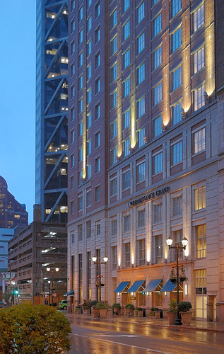 Renaissance Grand Hotel, in downtown Saint Louis, Missouri, USA - at dusk in the rain 1