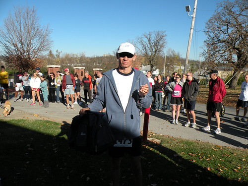 Frank Arellano, 43, of Eureka Springs wins Veterans Memorial 5K in 17 minutes, 44.2 seconds on November 7, 2009. The race raised money for the Regional National Cemetery Improvement Corp. It began at the Fayetteville National Cemetery