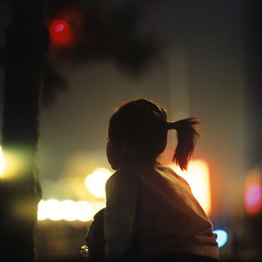 when you were five (memetic) Tags: china street portrait holiday girl night square lights child bokeh candid father daughter chinese beijing explore national  shoulders  frontpage provia tiananmen p6 pentaconsix  60years