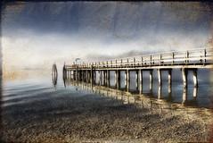 Ammersee - a Pier in Breitbrunn (MyOakForest) Tags: texture fog bayern bavaria pier nebel reflexions ammersee steg d80 top20bavaria lakeammer top20bavaria20 myoakforest