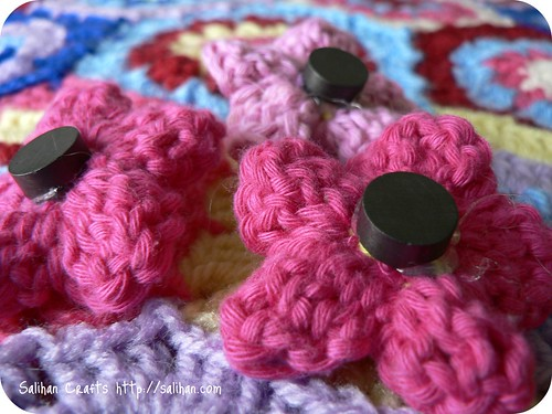 Crochet Flower Magnets
