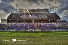 Light Shinning on the Frogs (Shawn O'Connell Photography) Tags: color football nikon texas purple stadium frogs tcu hdr fortworth amoncarter d90 texaschristianuniversity hornedfrogs amoncarterstadium tcuhornedfrogs shawnoconnellphotography