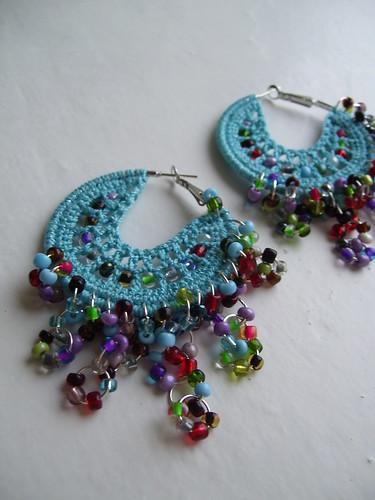 Bohemian turquoise hoops