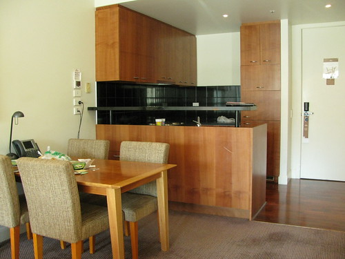 Kitchen and Dining Area in my 2nd Hotel Room