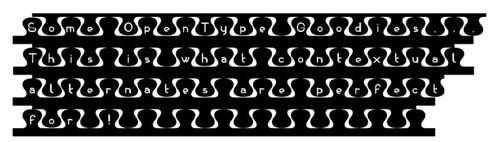 My zipper font