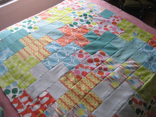 red letter day plus-sign quilt