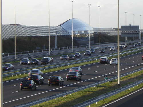Utrecht: Highway with Car Showroom