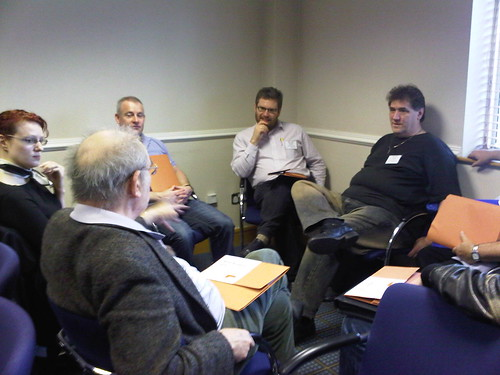 ALDC Kickstart: Councillor @alexfoster in a feedback session with his local team
