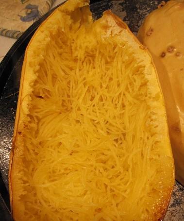 Scraped Spaghetti Squash