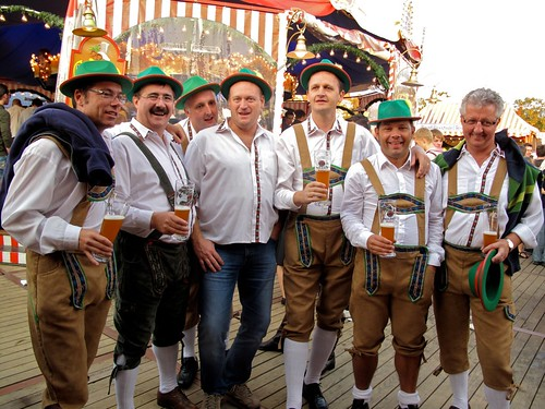 Oktoberfest 2009 - Belgium's we met who invited us out for dinner paid for by their company!