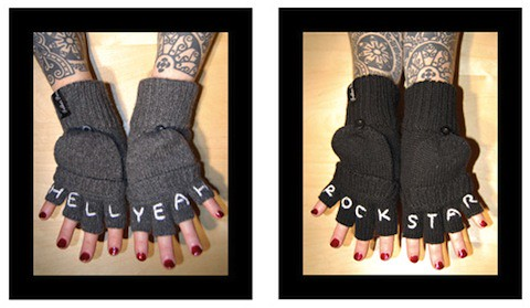 My Knuckle Tattoo Gloves. Father Panik Industries will make me their fashion