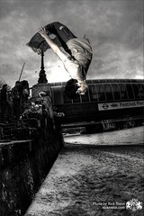 #339 ~ Freerunning ~ Sean (Rick Nunn) Tags: white black london beach thestreets freerunning hdr backflip vsortpop