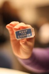 Keep this coupon (Dmitriy_Burdan) Tags: canon dof hand bokeh ticket luck shuffle coupon canon50mmf14 beyondbokeh