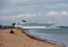 Norwegian Jade passing Calshot Spit (Calshot observer (in and out)) Tags: ship cruising hampshire cruiseship southampton liner calshot norwegianjade