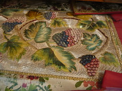 Detail (crystalseas) Tags: college church june museum scotland leaf embroidery vine aberdeen 2008 seminary grape garment blairs dmcfx55