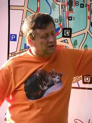 Roman in his new Tshirt (EuCAN Community Interest Company) Tags: poland 2009 eucan milicz baryczvalley