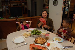 Our seafood Christmas dinner