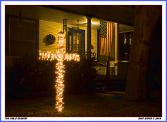 FOR GOD AND COUNTRY (akahawkeyefan) Tags: california dave cross flag s u porch meyer lighted kingsburg falg