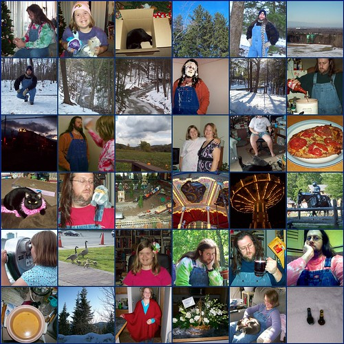 2009: a year of snow, festivals, gifts, trips, food, and overalls!