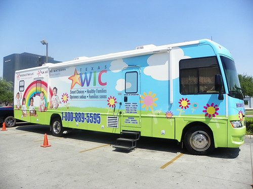 Based in McAllen, Texas, the mobile unit goes into surrounding rural areas in Hidalgo County and provides WIC services to more than 1,800 clients a month