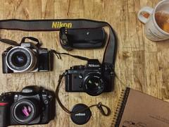 My Nikons (louiseven) Tags: dslr slr d200 f3 n65 nikon