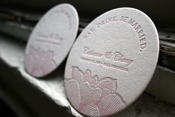 Pavilion Letterpress Coaster