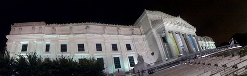 My bendy panoramic of the Brooklyn Museum