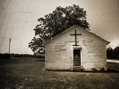 Testified (evanleavitt) Tags: bear county old bw texture abandoned church rural ga georgia lost hope darkness cross time decay south faith country religion joy olympus story american hart to everyone saddness has hdr prayers praise damnation the untold e510 photomatix a