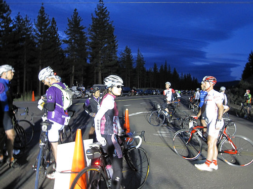 Riders waiting for the start