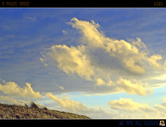 We Are All Clouds (tomraven) Tags: blue sunset newzealand sky sun beach clouds geotagged interestingness time explore frontpage july15 explored otakibeach inexplore tomraven savebeautifulearth geo:lat=40741339 geo:lon=175112457 aravenimage q309 weareallcloudspuffywhiteandsailingthroughbluetime