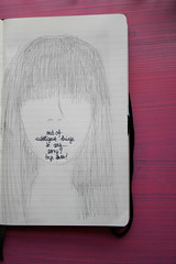 (Miriam Schaefer) Tags: pink black moleskine girl pen pencil ink canon notebook sketch personal drawing sketchbook m draw miriam negra tinta boceto noeyes cuaderno eme esbozo sibujo canoneos400d sinojos outofintelligentthingstosay miriamsuarez miriamschaefer